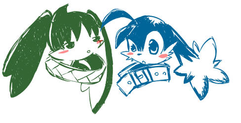 kos and klonoa by Silphy