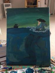 Alone at Sea by Slinky-draws