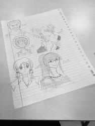 Some quick sketches  by dakotaaaaaa-chan