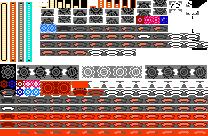 8-bit Mega Man 11 Demo Hud by Elmind