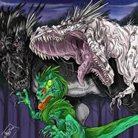 Midnight Stroll - Dinosaur by blackheartedhate