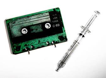 custom color cassette notebook by bleedsopretty