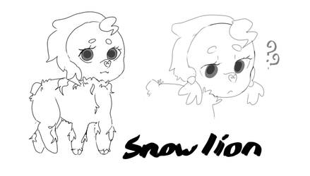 Snow lion by vanillavayder