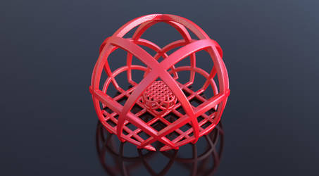 Colored Plastic FRACTAL 3D Print by nic022