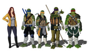 TMNT Movie Redesign Group by CandyKappa
