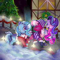 Winter Ponies - Commission by Blynxee