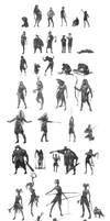50 Random Sketches by Khalo