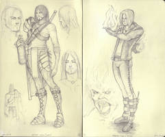 Character Book - Pages 1 and 2 by Khalo