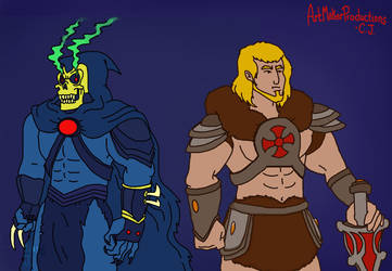 He-Man and Skeletor redesigns by bigfootRULES