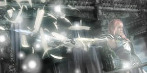 FFXIII-2 Lightning's wings by EndlessSkyy