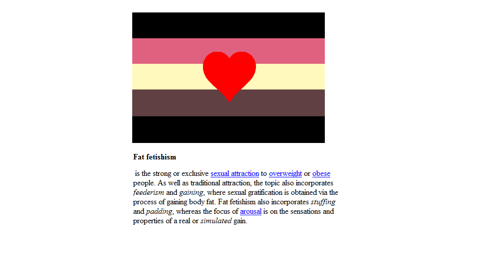 Delightful Fat Fetish Flag And Definition By Madam  Kitty ...