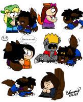 Werewolf Edimay meets DA kids(GIFT) by Edimay