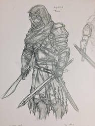 Knight Sketch by The--Filipino--Dude