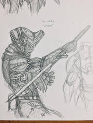 Exiled Warrior Sketch by The--Filipino--Dude