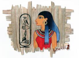 Ancient Egyptian Portrait-Self portrait project by Leda456