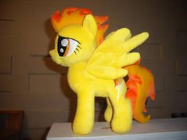 Flamey-o Pony Plush by fireflytwinkletoes