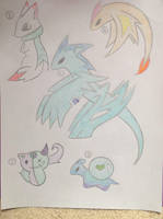 Mixed Scribble Adopts by MercuryDragon15