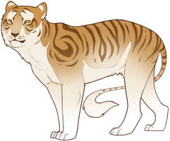 Golden tiger by Neverfly