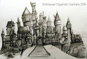Hogwarts Castle- Sketch by Emmanuel-Oquendo