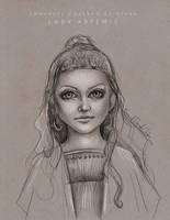 Lady Artemis - Sketch by Emmanuel-Oquendo