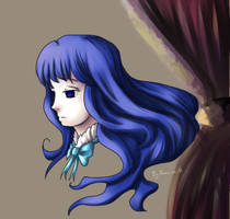 Curtain with Bernkastel by Kamo-Mille