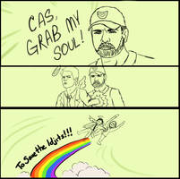 Grab My Meme - Cas grab my soul by Odyrah