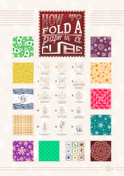 How to fold a paper in cube by m-1981