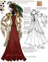 Masquerade costume by ladylucrezia