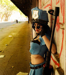 Caitlyn Police officer LoL by Vicky by 61x