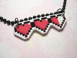 Zelda Style Hearts Necklace by JennyLovesKawaii
