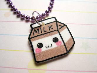 Kawaii Chocolate Milk Necklace by JennyLovesKawaii