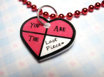 Legend of Zelda Heart Necklace by JennyLovesKawaii