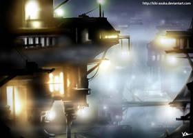 Haze in the city. by KikiKinchester