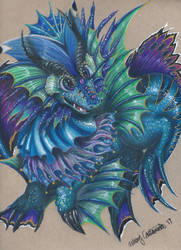 Water Dragon - Original Character by Ducks-with-Crayons