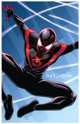 Miles Morales Spider-Man by Lee Xopher by leexopher