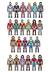 The Brony Analysis as Ultramen and Ultrawomen by Gojilion91