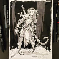 Inktober 2017 - Day08 - Crooked by Koni-art