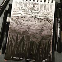 Inktober 2017 - Day10 - Gigantic by Koni-art