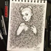 Inktober 2017 - Day013 - Teeming by Koni-art
