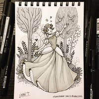 Inktober 2017 - Day17 - Graceful by Koni-art