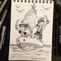 Inktober 2017 - Day25 - Ship by Koni-art