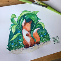 Pretty Little Fox by Koni-art