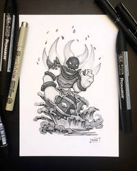 Inktober 2018 - Day19 - Scorched by Koni-art