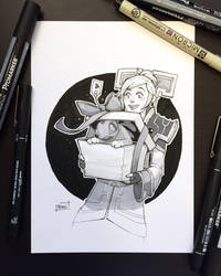 Inktober 2018 - Day28 - Gift by Koni-art