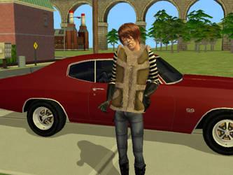 Sims 2 - Matt (Death Note) by MisgivingsX