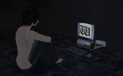 Sims 2 - L (Death Note) by MisgivingsX