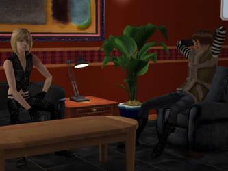 Mello and Matt - Sims 2 (Death Note) by MisgivingsX