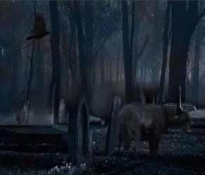 Graveyard Wolf by MisgivingsX