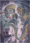 commission - black dragon by drachenmagier