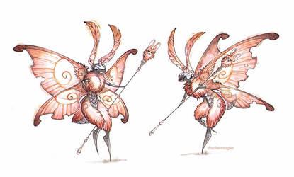 bunny moths by drachenmagier